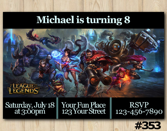 League of Legends Invitation | Personalized Digital Card