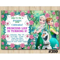 Frozen Fever Fb Invitation