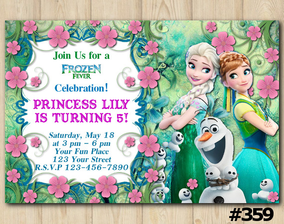 Frozen Fever Fb Invitation | Personalized Digital Card