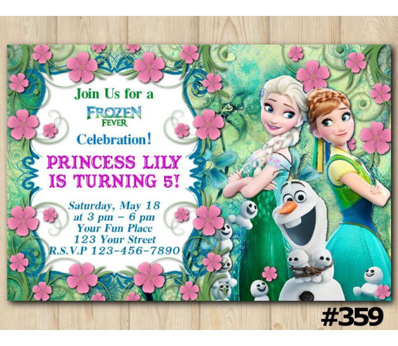 Disney Frozen Fever Birthday Invitation Frozen Fever Invitation