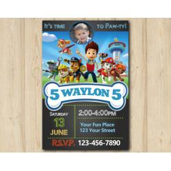 Paw Patrol Invitation with Photo
