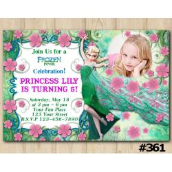 Frozen Fever Birthday Invitation with Photo