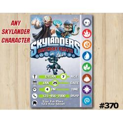 Skylanders Game Card Invitation | Kaos, FlingKong, KnightMare