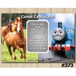 Twin Horse and Thomas and Friends Invitation