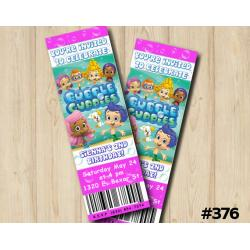 Bubble Guppies Ticket Invitation