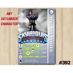 Skylanders Hood Sickle Game Card Invitation | HoodSickle