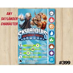 Skylanders Trap Team Game Card Invitation | Kaos, Wallop