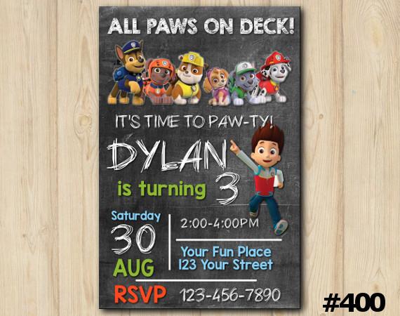 Paw Patrol Invitation | Personalized Digital Card
