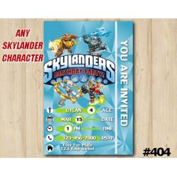 Skylanders Game Card Invitation | Gearshift