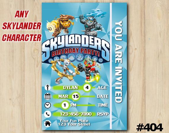 Skylanders Game Card Invitation | Gearshift | Personalized Digital Card