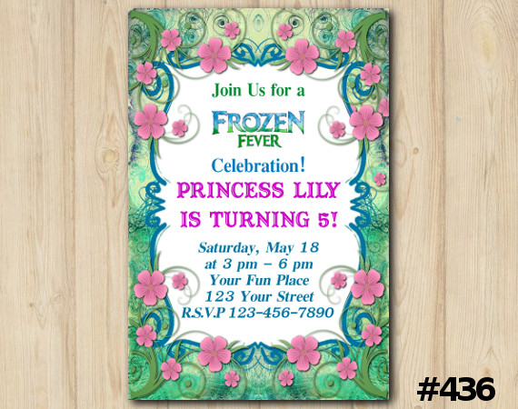 Frozen Fever Fb Invitation   Personalized Digital Card