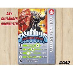 Skylanders Darkwildfire Game Card Invitation | DarkWildfire