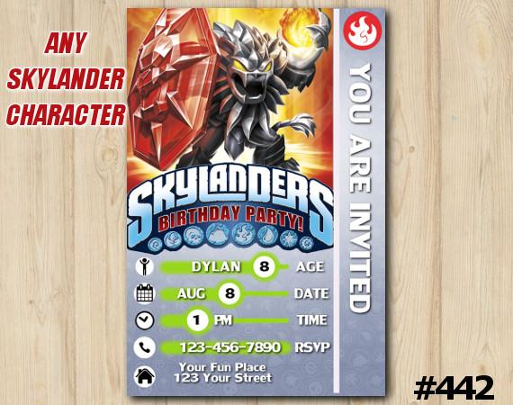 Skylanders Darkwildfire Game Card Invitation | DarkWildfire | Personalized Digital Card