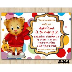 Daniel Tiger Invitation