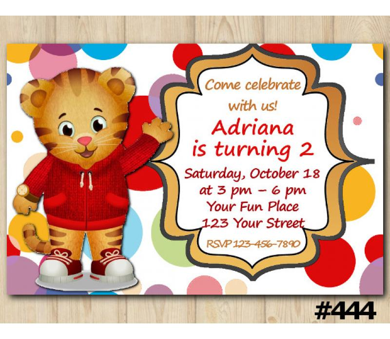 image about Daniel Tiger Printable referred to as Daniel Tiger Invitation Custom-made Electronic Card