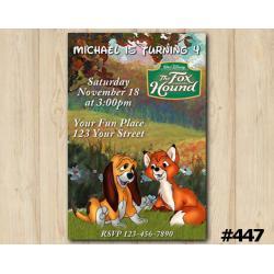 Disneys the Fox and the Hound Invitation