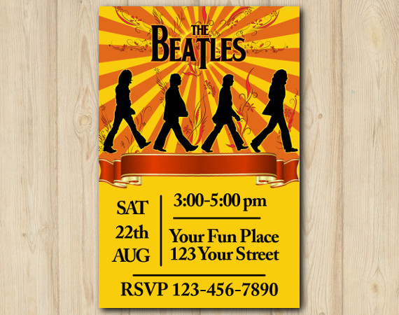 Beatles Invitation | Personalized Digital Card