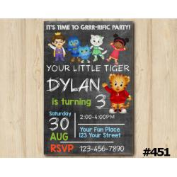 Daniel Tiger Chalkboard Invitation