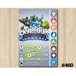Skylanders Game Card Invitation | KryptKing, SnapShot, FoodFight