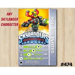 Skylanders Game Card Invitation | MagnaStone