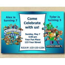 Twin Skylanders and Minecraft s Invitation