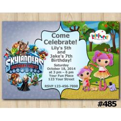 Twin Skylanders and Lalaloopsy s Invitation