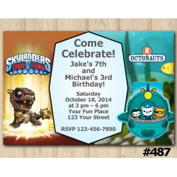 Twin Skylanders and Octonauts Invitation | BobMini