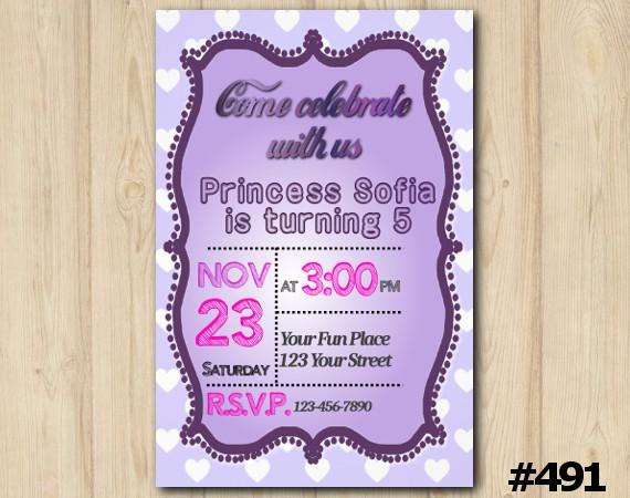 Girls Birthday Invitation   Personalized Digital Card