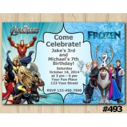 Twin Avengers and Frozen Invitation
