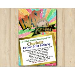Blast From the Past Adult Invitation