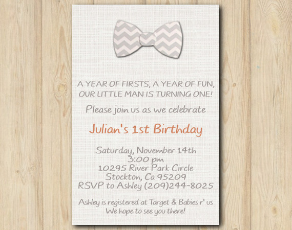 First Birthday Invitation | Personalized Digital Card