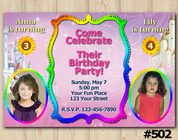Twin Invitation with Photo | Personalized Digital Card