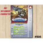 Skylanders Superchargers Game Card Invitation | Terrafin | Personalized Digital Card