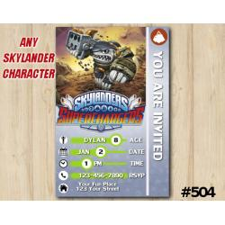 Skylanders Superchargers Game Card Invitation | Terrafin