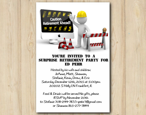 Adult Construction Invitation | Personalized Digital Card