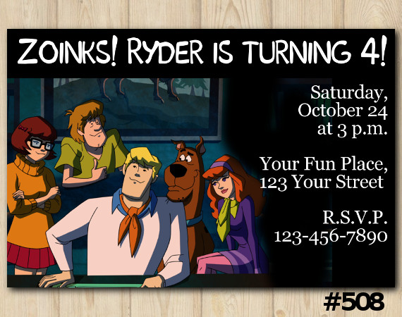 Scooby DooInvitation | Personalized Digital Card