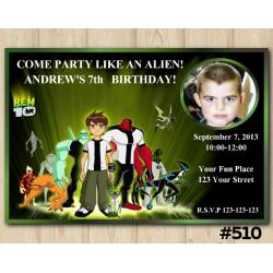 Ben10 Invitation with Photo