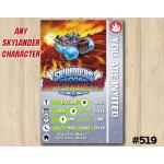 Skylanders Spitfire Superchargers Game Card Invitation | Spitfire | Personalized Digital Card