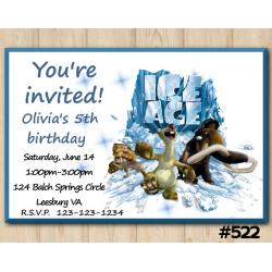 Ice Age Invitation