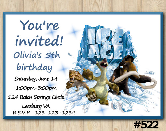 Ice Age Invitation | Personalized Digital Card