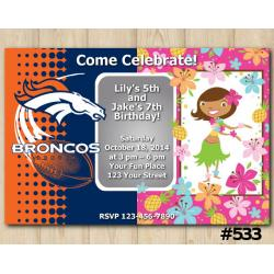 Twin Denver Broncos and Hawaiian Invitation