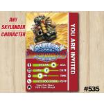 Skylanders Donkeykong Superchargers Game Card Invitation | DonkeyKong | Personalized Digital Card