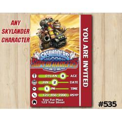 Skylanders Donkeykong Superchargers Game Card Invitation | DonkeyKong
