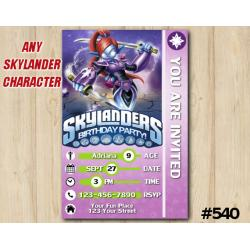 Skylanders Ninjini Game Card Invitation | Ninjini