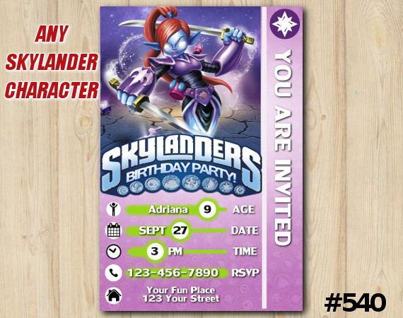 Skylanders Ninjini Game Card Invitation | Ninjini | Personalized Digital Card