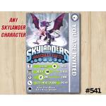 Skylanders Cynder Game Card Invitation | Cynder | Personalized Digital Card