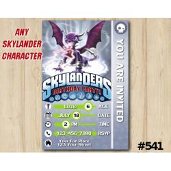 Skylanders Cynder Game Card Invitation | Cynder