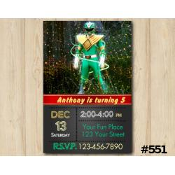 Power Ranger Invitation