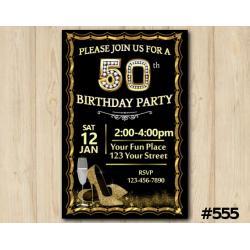 Adult Shoe Invitation