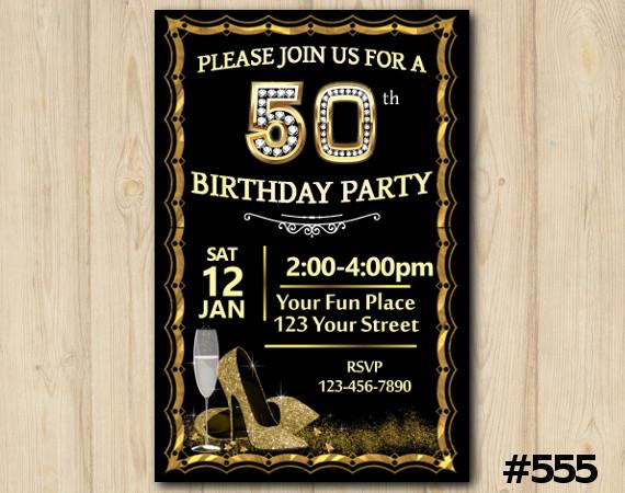 Adult Shoe Invitation | Personalized Digital Card